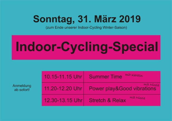 Fitness Studio Vie Vitale in Elmshorn Indoor-Cycling-Special