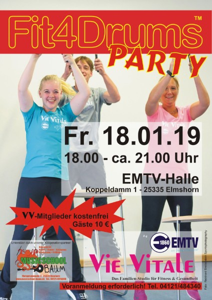 Fitness Studio Vie Vitale in Elmshorn Fit4Drums-Party
