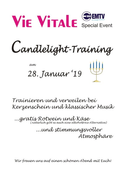 Fitness Studio Vie Vitale in Elmshorn Candlelight-Training